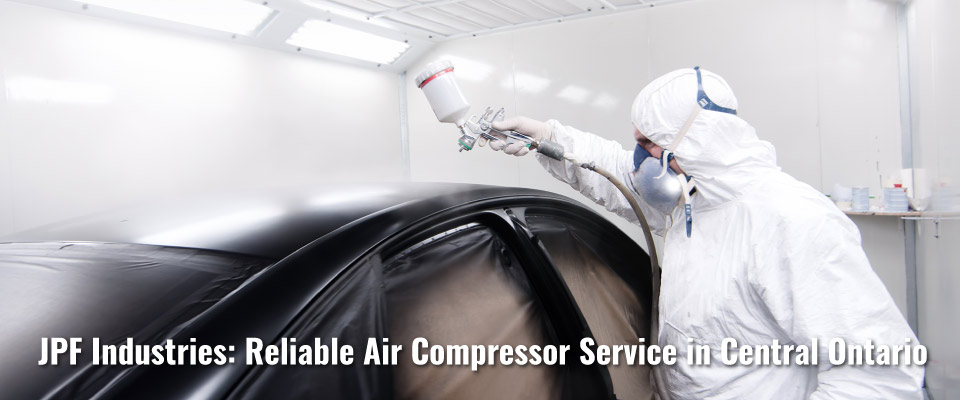 spray painting car JPF Industries: Reliable Air Compressor Service in Central Ontario